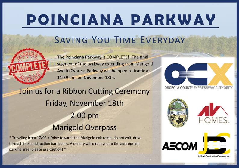 Ribbon Cutting Poinciana Pkwy