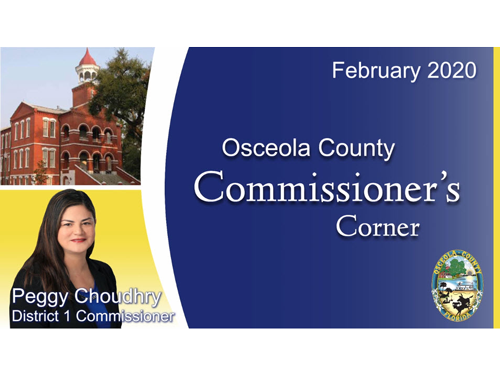 Commissioner's Corner - Commissioner Peggy Choudhry - Make Osceola Count