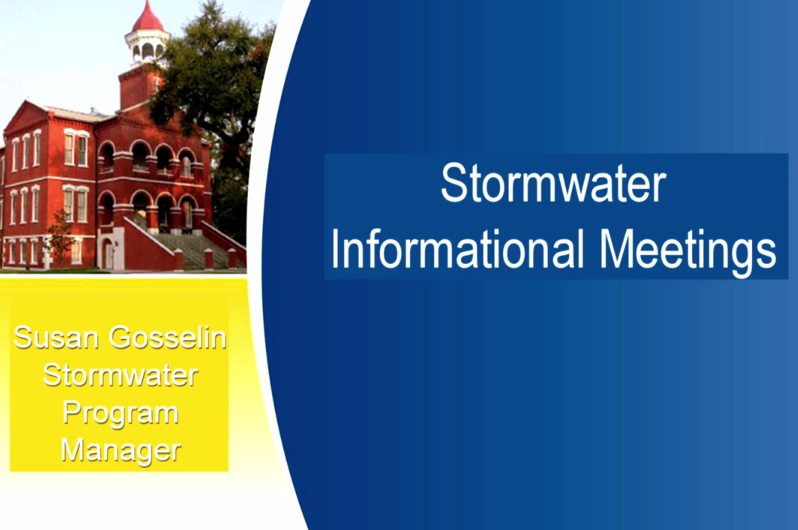 Public Information and Outreach for Potential Stormwater Utility Fee Assessment