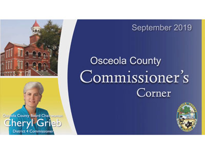 Commissioner's Corner District 4 Commissioner Cheryl Grieb Emergency Operations Center September, 2019
