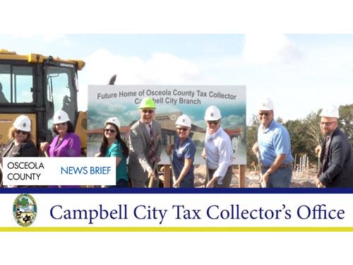 Osceola News Brief - Campbell City Tax Collector's Office Groundbreaking Ceremony - November 5, 2019