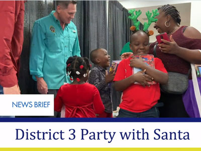 News Brief - District 3 Party with Santa 2019 - December 21, 2019