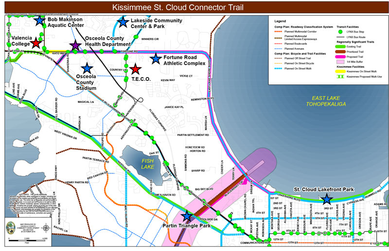 KISSIMMEE ST. CLOUD CONNECTOR TRAIL MAP