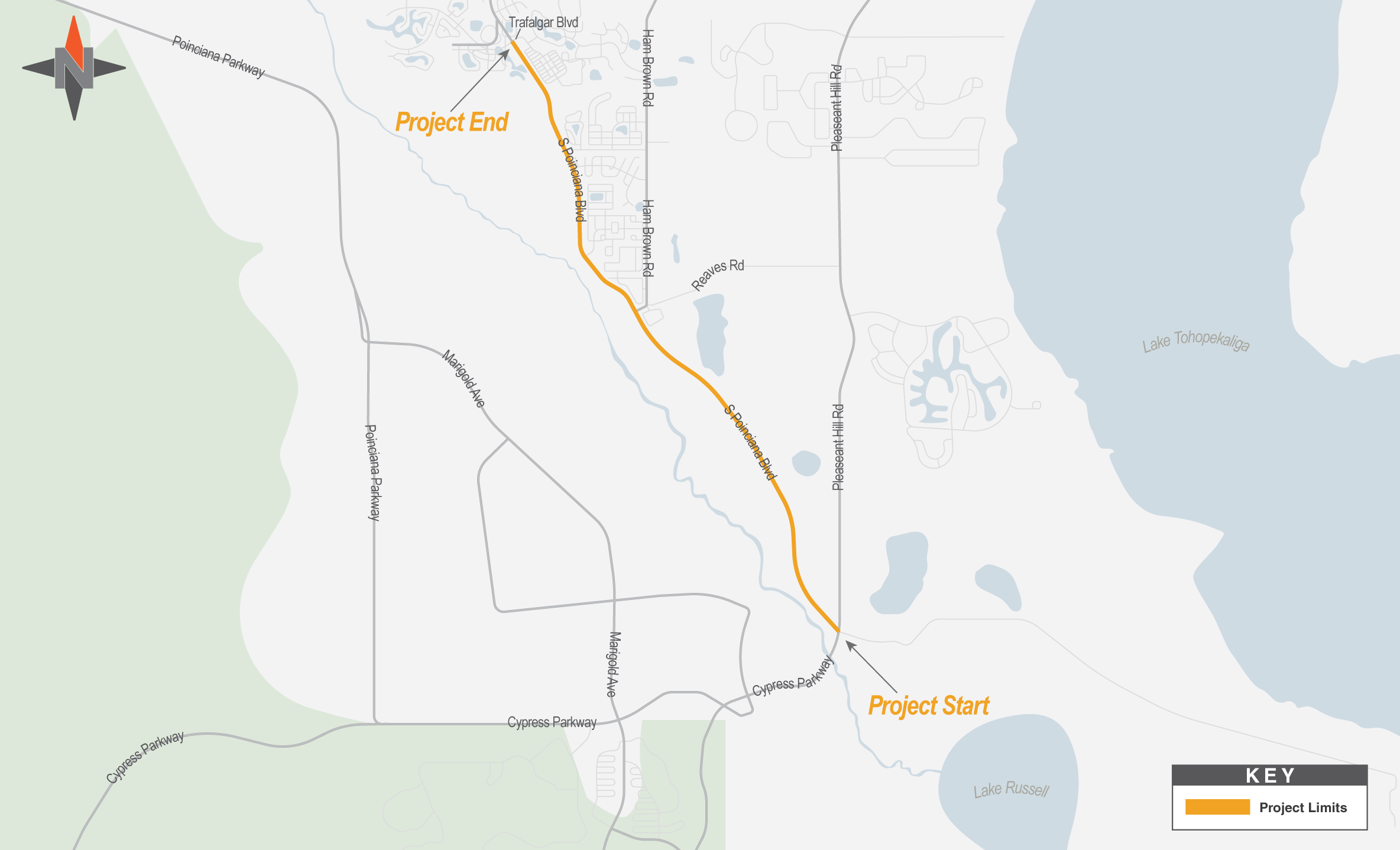 Poinciana Boulevard Widening Project Map