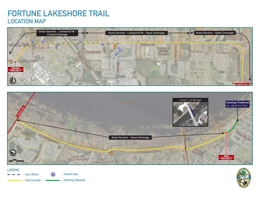 Fortune Lakeshore Trail Location Map